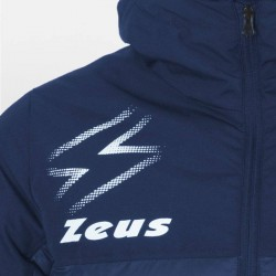 Zeus Giubbotto Olympia Blu Dettaglio Logo Avanti