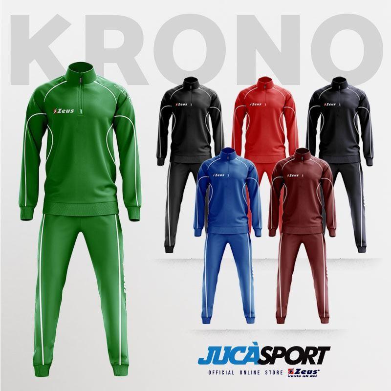 Zeus Sport Tuta Mezza Zip Krono Colori Disponibili