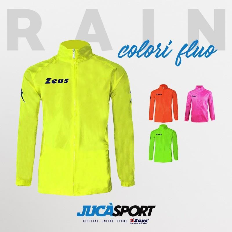 Giacca Pioggia Kway Rain Zeus Colori Fluo