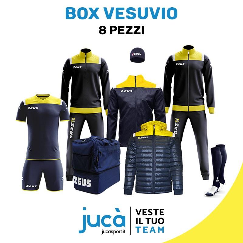 d1048c60f560 BOX CALCIO CALCETTO GARA ALLENAMENTO (KIT+GIUBBOTTO+TUTA RELAX+TUTA  TRAINING+K-WAY+BORSA+CALZA+ZUCCOTTO)
