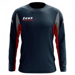 Zeus Sport T-Shirt Atlante Manica Lunga Blu